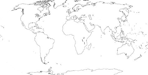 world physical map black  white google search
