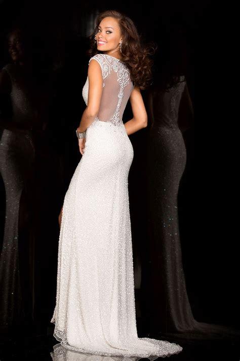 beaded ivory dress scala ivory sequin beaded slit dress alila