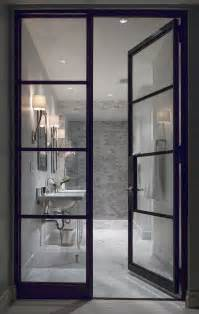 Bathroom Doors With Glass Quot White Room Quot Interior Bathroom See Through Glass Door