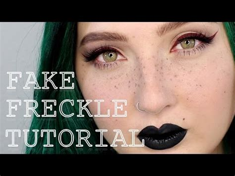 how to fake freckles makeup tutorial jordan hanz youtube