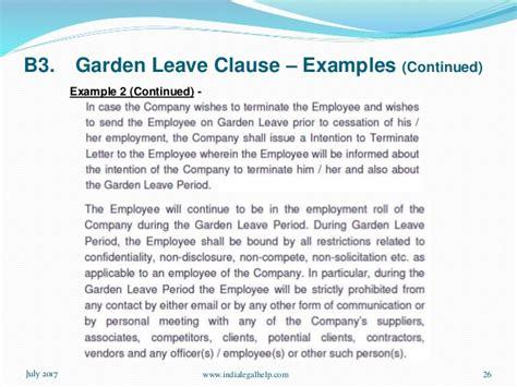 garden leave clause settlement agreement fasci garden