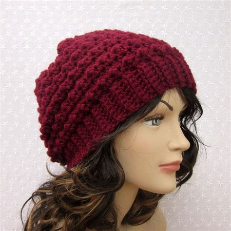 crochet womens hat free patterns wine slouchy crochet