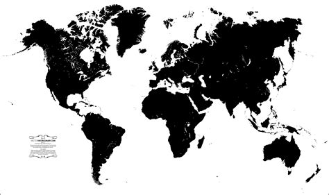 world map black and white vector vector world map a free accurate world map in vector format