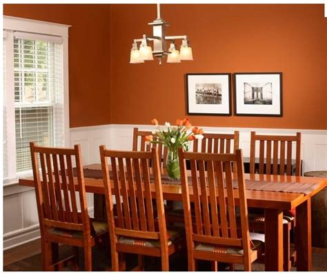 Burnt Orange Dining Room | burnt orange dining room a splash of citrus pinterest