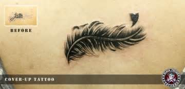 amazing cover up bird feather tattoo black poison tattoo