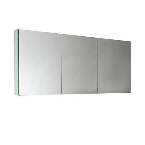 frameless recessed medicine cabinet fresca 59 in w x 26 in h x 5 in d frameless glass