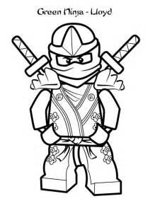 ninjago green ninja lloyd garmadon coloring page ninja