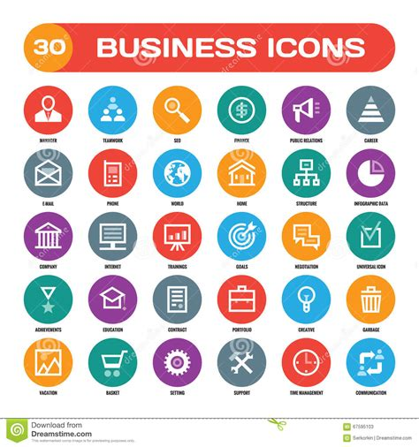 material design icon vector 30 business creative vector icons in flat style for