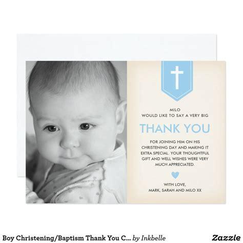 Baptism Thank You Cards Boy