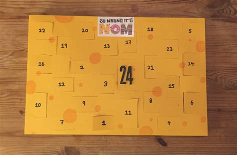 how do you make a calendar how to make a cheese advent calendar 183 so wrong it s nom