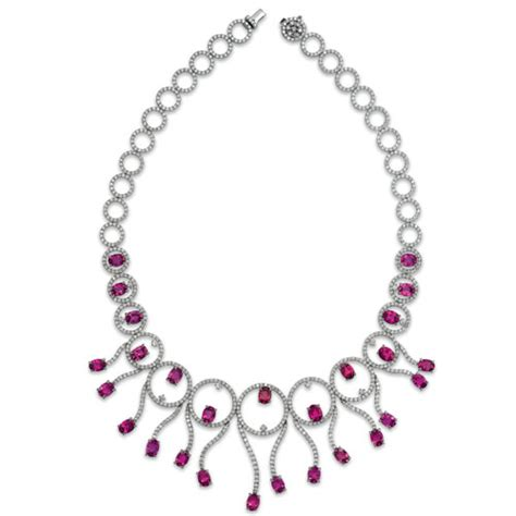 rubellite and necklace vanna k 1037