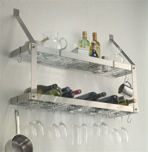 kitchen wine rack ideas furniture cool stainless steel wine glass rack and wine