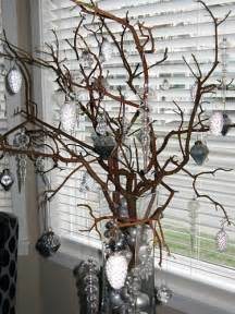 kitchen decorate bare trees for christmas decorating