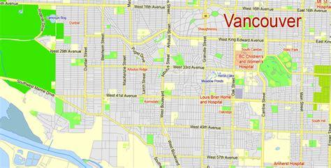 printable map vancouver vancouver metro area printable map canada exact vector