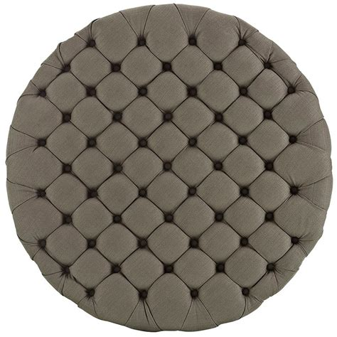 round tufted fabric ottoman round tufted fabric ottoman modern furniture brickell