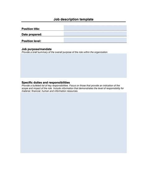description template 47 description templates exles template lab