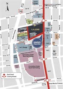 center parking map staples center los angeles parking