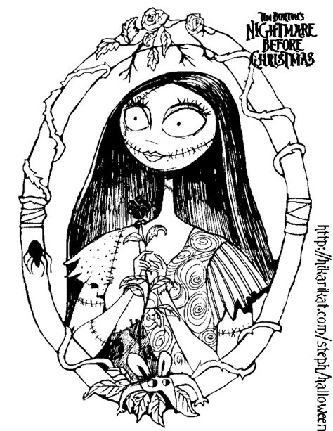 Nightmare Before Christmas Sally Coloring Pages Art Sally Nightmare Before Coloring Pages
