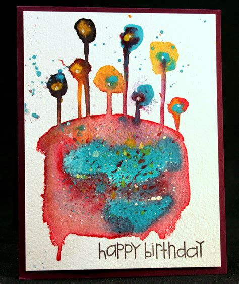 Birthday Cards For Artists Creative Inspiration In Food Watercolor Photography