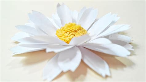 paper daisy flower tutorial chamomile daisy paper flower diy tutorial paper flowers