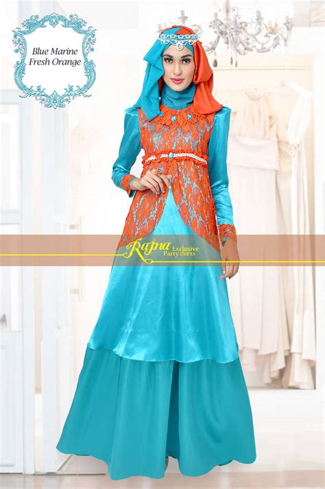 Model Baju Pesta Muslim model dress brukat hairstylegalleries