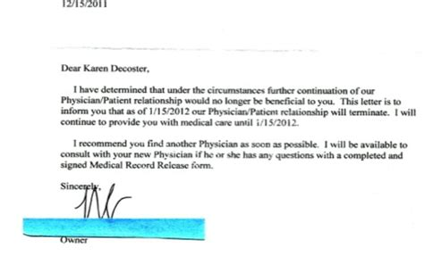 Patient Letter Leaving Practice De Coster 187 The Establishment Fired Me For Rejecting Conventional Wisdom