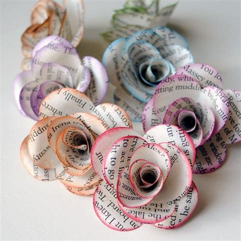 Paper Flower Books - book paper flowers