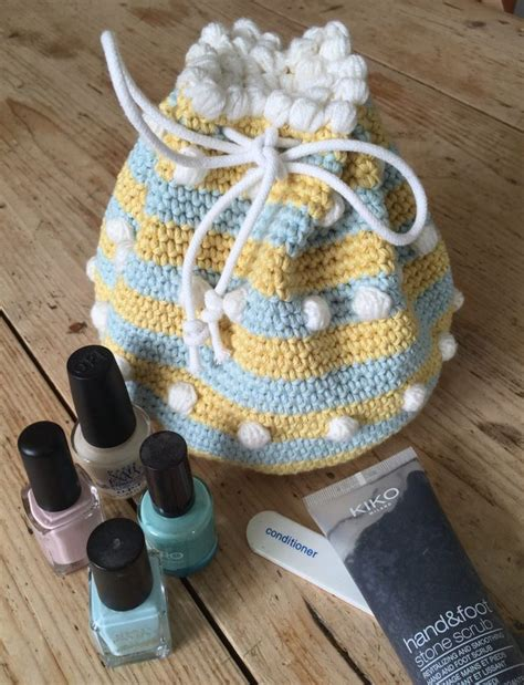 crochet pattern small drawstring bag crochet club small drawstring bag by kate eastwood on the