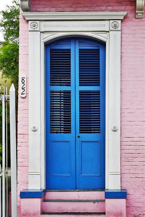 New Orleans Doors by Blue Front Door New Orleans Photograph By Christine Till