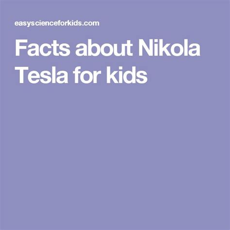 Facts About Nikola Tesla Best 25 Facts For Ideas On