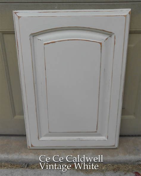 distressed white kitchen cabinet doors using chalk paint for oak kitchen cabinets test door