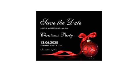 christmas holiday party save the date postcard zazzle com