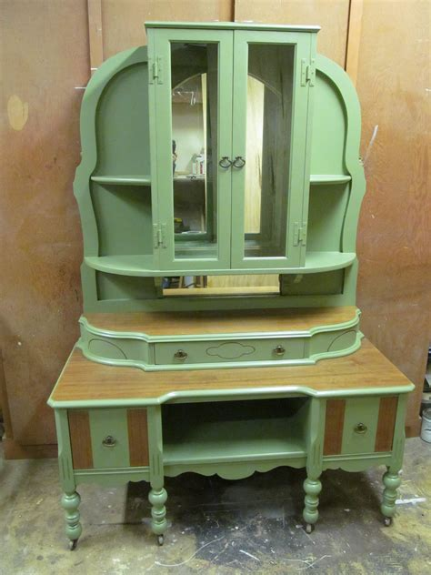 Repurpose Upcycle - antique vanity repurposed into display cabinet reuse repurpose upcycle
