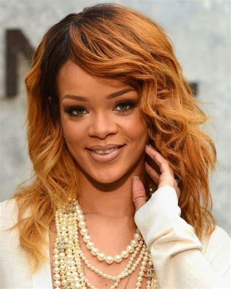 pictures of hairstyles rihanna hairstyles golden medium wavy haircut pretty
