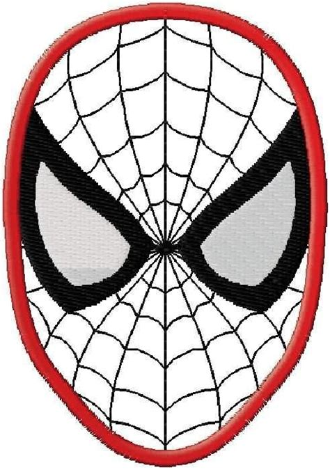 spiderman cake pattern spiderman face applique design embroidery pinterest