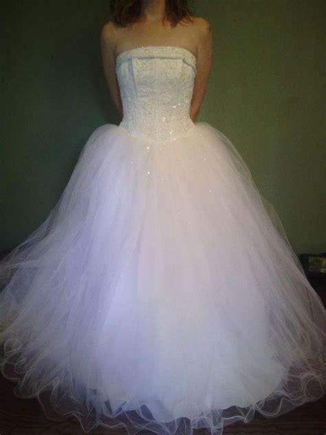 David's Bridal Princess Ball Gown Wedding Dress   Tradesy