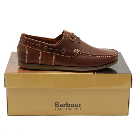barbour capstan boat shoe mahogany mens shoes from attic