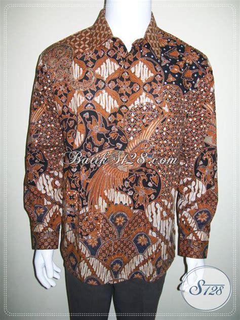 Kemeja Batik Pria Terbaru Lengan Panjang Mewah Elegan kemeja batik pria lengan panjang mewah berkelas elegan dan