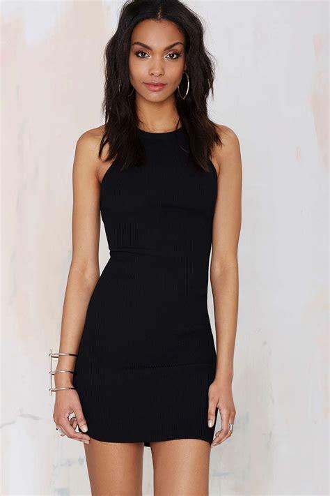 nasty gal hold tight cutaway dress tight black dress