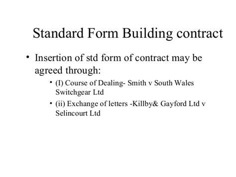 Letter Of Intent Quantum Meruit building contract introduction