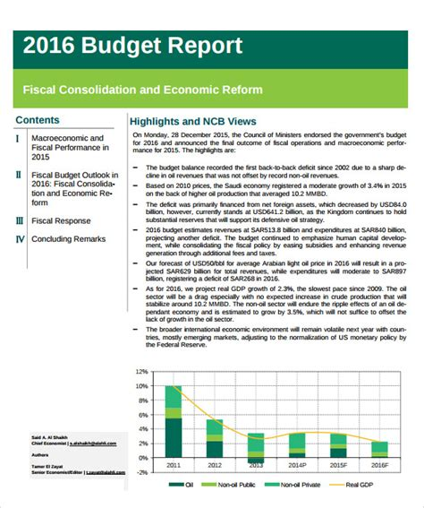budget performance report template sle budget report 8 documents in pdf word