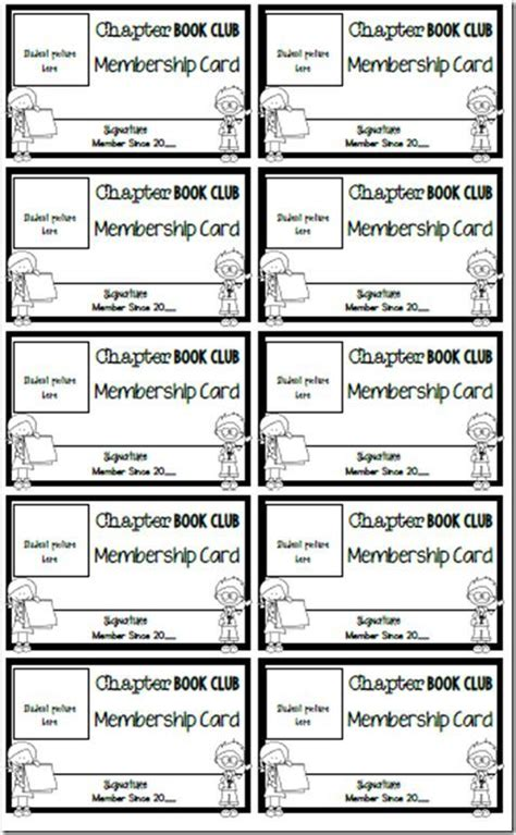 club membership card template the magic chapter books and book clubs on