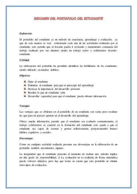 portafolio de ofertas de cr resumen portafolio estudiante