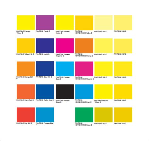 sle pantone color chart 6 documents in pdf word