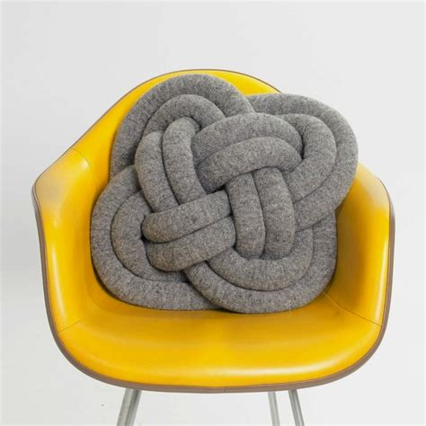 knot pillow notknot cushions by umemi knitted wool rope knot pillows