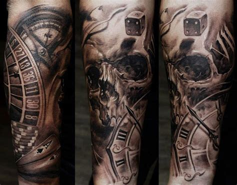 skull tattoo sleeve designs for men sleeves for with design popular