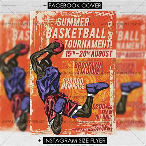 Basketball Tournament Flyer Template Free