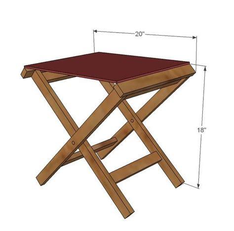 Outdoor Wood Folding Stool Plans