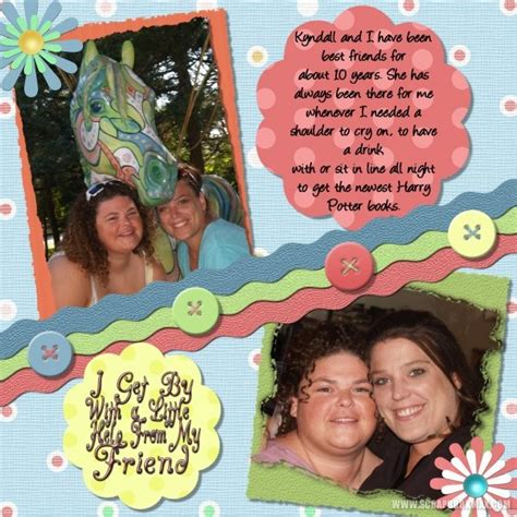 scrapbook layout for friends friendship layouts archives scrapbook max