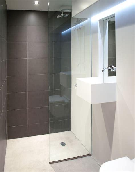Corian Flooring Bathroom White Corian And Concrete Bathroom Modern Bathroom